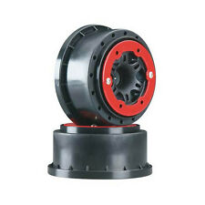 Pro-Line Split Six Bead Lock Front Wheels (Red/Black)