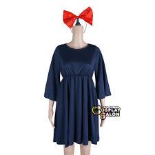 Anime Dark Blue Kiki's Delivery Service Headband Dress Cosplay Halloween Costume