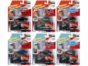 """1:64 """"Collector's Tin"""" 2020 Release 2 -- 6 Car Pack -- Johnny Lightning"""