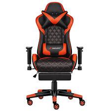 JL Comfurni Chefsessel Bürostuhl Lehnstuhl höhenverstellbar Gaming Stuhl Rot