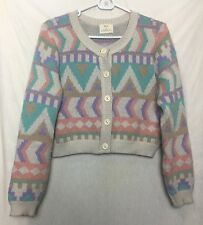 Urban Outfitters PINS AND NEEDLES Cream Button Front Cardigan Sweater Large q
