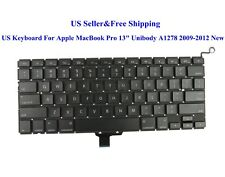 """US Keyboard For Apple MacBook Pro 13"""" Unibody A1278 2009 2010 2011 2012 New"""
