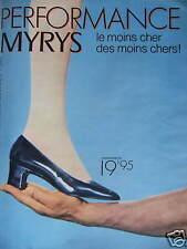PUBLICITÉ CHAUSSURES MYRYS PERFORMANCE LE MOINS CHER DES MOINS CHERS