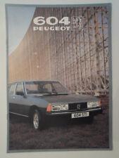 PEUGEOT 604 orig 1981 UK Mkt Sales Brochure - STI SRD Turbo