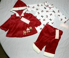 Pant Outfit Red Gymboree 3pc Velour Christmas Baby size 0-3 month New