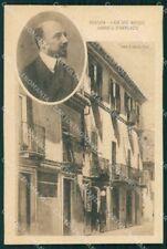 Personaggio Gabriele D'Annunzio Pescara Casa Natale cartolina XF6783