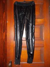 Victoria's Secret~Kiss of Cashmere~Faux Leather~Sweater~Leggings~Medium~Black