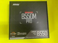 MSI Pro Series B550M PRO AM4 AMD B550 SATA 6Gb/s Micro ATX AMD Motherboard