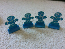 Vintage Candy Land Bingo Game Pieces Gingerbread Men Stands Cards Spinner