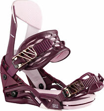 Salomon Womens Snowboard Binding Hologram 2019 Burgundy Medium