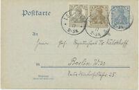 DT.REICH LEEHEIM K1 3 Pf+2 Pf Deutsches-Reich-Aufbrauchsausgabe FRANZ KALCKHOFF