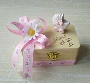 Geschenk-Box zur Geburt/Taufe Baby Mädchen Geldgeschenk Mitbringsel Geburt
