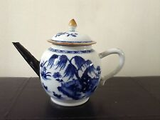 Magnificent Antique Chinese Kangxi Teapot 18Th Century Blue And White Porcelain