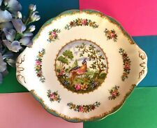 "Rare Vintage Royal Albert China ""Chelsea Bird"" Tea Set Sandwich Plate,Cake Plate"