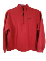 Nike Men Casual Outdoor Pull Over Long Sleeve Sweater Jackets Red Size XL