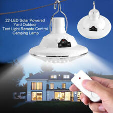 22pcs LED Solar Power Tent Bulb Light Outdoor Camping Yard Remote Control Lamp
