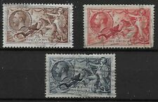 SG450-452. 1934 Re-Engraved Seahorses. Sound Stamps-Average Used.  Ref:17120