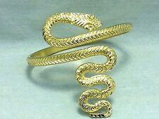 Snake Upper Arm Bracelet Cuff Bangle Armlet Armband Gold Fashion Belly Dance New