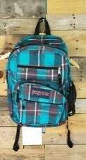 Jansport Blue Plaid Backpack Adult NEW - Free Shipping