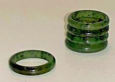 Genuine Nephrite Green Jade Ring - Multiple Sizes Available - NEW