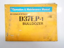 KOMATSU D37E-1  Tractor Dozer Crawler Owner Operation Maintenance Manual