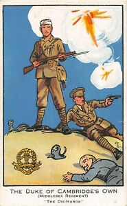 POSTCARD  MILITARY -  THE DUKE OF CAMBRIDGE'S OWN ( MIDDX REGT )