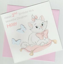 Personalised Aristocats Marie 1st, 2nd, 3rd, 4th Birthday Card - Daughter, Niece