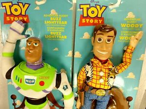 "1995 Vintage Disney Pixar's Toy Story ""Woody"" and ""Buzz"" NEW THINKWAY"