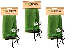 9 Bags FRUITY SACKS Reusable Fruit & Veg Shopping Bags ( 3 sets x 3 bags each )
