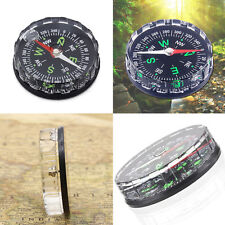 2x Mini Pocket Survival Liquid Filled Button Compass for Hiking Camping OutdoorX