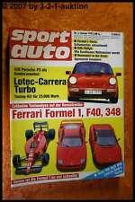 Sport Auto 1/92 Ferrari Formel 1 F40 348 Lotec Carrera