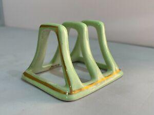UNUSED English Bone China Green 2 Slice Toast Rack - other colour available
