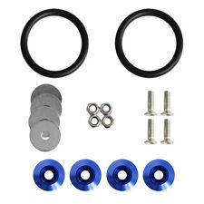 New Quick Release Fasteners Kit For Car Bumpers Trunk Fender Hatch Lids Blue