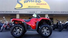 NEW 2017 Honda Rancher 4x4 foot shift RED with Winch and Mud Tires