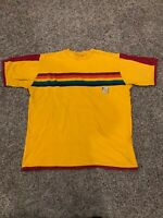 Vintage Adidas 3 Stripe Trefoil Multicolor Volleyball Shirt Jersey Size Large