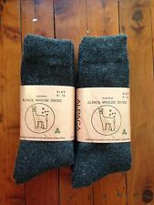 6 PAIRS EXTRA THICK FINE LUXURIOUS GREY ALPACA WOOL WORK SOCK 6-11