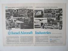 6/1971 PUB IAI ISRAEL AIRCRAFT INDUSTRIES ARAVA COMMODORE MISSILE ORIGINAL AD
