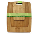 Oceanstar 3-Piece Bamboo Cutting Board Set, Small Medium Large Chopping Boards