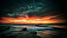 Australian  SUNSET OCEAN  PHOTO landscape A1 SIZE PRINT FOR YOUR FRAME