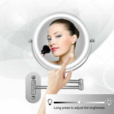 Makeup Mirror With LED Light Folding Wall Mount Vanity Mirror 5X/7X Magnifying