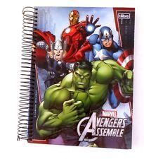 Marvel Avengers Assemble Boy's Hardcover Spiral 200 Sheet 10 Subject Notebook