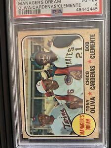 1968 Topps Manager's Dream Clemente Baseball Card #480 PSA 4