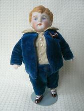 New ListingAntique Chubby Kestner All Bisque Boy Original Clothes No Damage