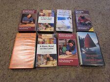 (9) Fine Woodworking VHS LOT *Lathe, Handplanes, Turning, Nutshell Pram* VG+/NM-