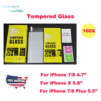 Wholesale Lot Tempered Glass Screen Protector for iPhone 7/8/Xs Plus-retail pack