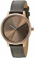 Nixon Women's Kensington A1082214-00 37mm Brown Dial Leather Watch