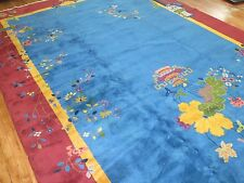 Antique Chinese Art Deco Rug Size 10'x19'1''