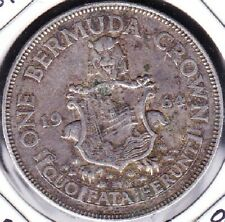 1964 BERMUDA CROWN SILVER COIN VF