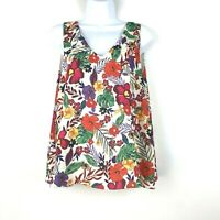 Tabitha Webb Women's Floral Sleeveless Tank Top Blouse Size Large EUC