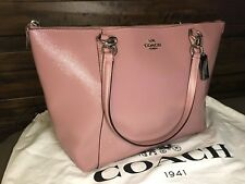 Coach 31970 Patent Crossgrain Leather Ava Tote In DUSTY ROSE BNWT Newly Released